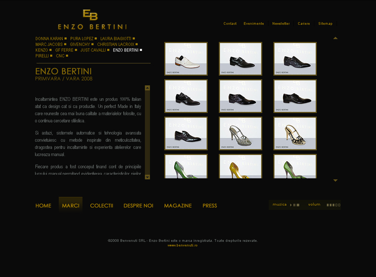 Enzo Bertini website content